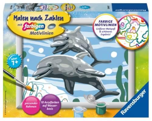 Ravensburger 284689 Malen Nach Zahlen Freundliche Delfine