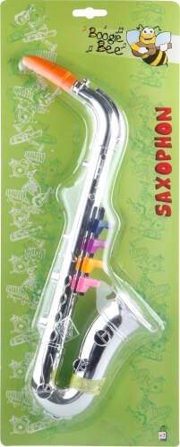 Kinderinstrument Boogie Bee Saxophon silber 36 cm ab 3 Jahren Länge ca