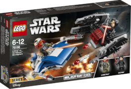 LEGO® Star Wars 75196 A-Wing vs. TIE Silencer Microfighters, 188 Teile, ab 6 Jahre