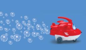 Super Wings Jett Spielfigur mit Seifenblasenfunktion