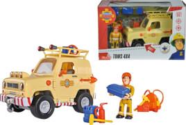 Simba Feuerwehrmann Sam - Toms 4x4 Geländewagen inkl. Licht und Zubehör, Kunststoff, ca. 24x15x15 cm, ab 3 Jahre