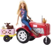 Mattel FRM18 Barbie Bäuerin Puppe und Traktor Spielset