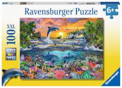 Ravensburger 10950 Puzzle Tropisches Paradies 100 Teile XXL