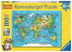Ravensburger 105953  Puzzle Reise um die Welt 100 Teile