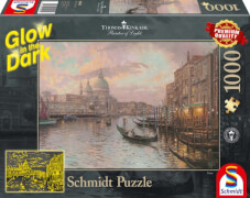 Schmidt Spiele Puzzle Thomas Kinkade In den Straßen von Venedig, 1000 Teile, Glow in the Dark