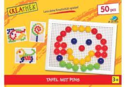 Creathek Steckplatte mit 50 Pins, Durchmesser 20 mm, ca. 24,5x18,5x5,3 cm, ab 3 Jahren