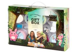 Geschenkbox Waldwesen aus Knetmasse mit Foam Clay® und Silk Clay®