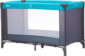 Reisebett Basic grau/türkis 120x60 cm